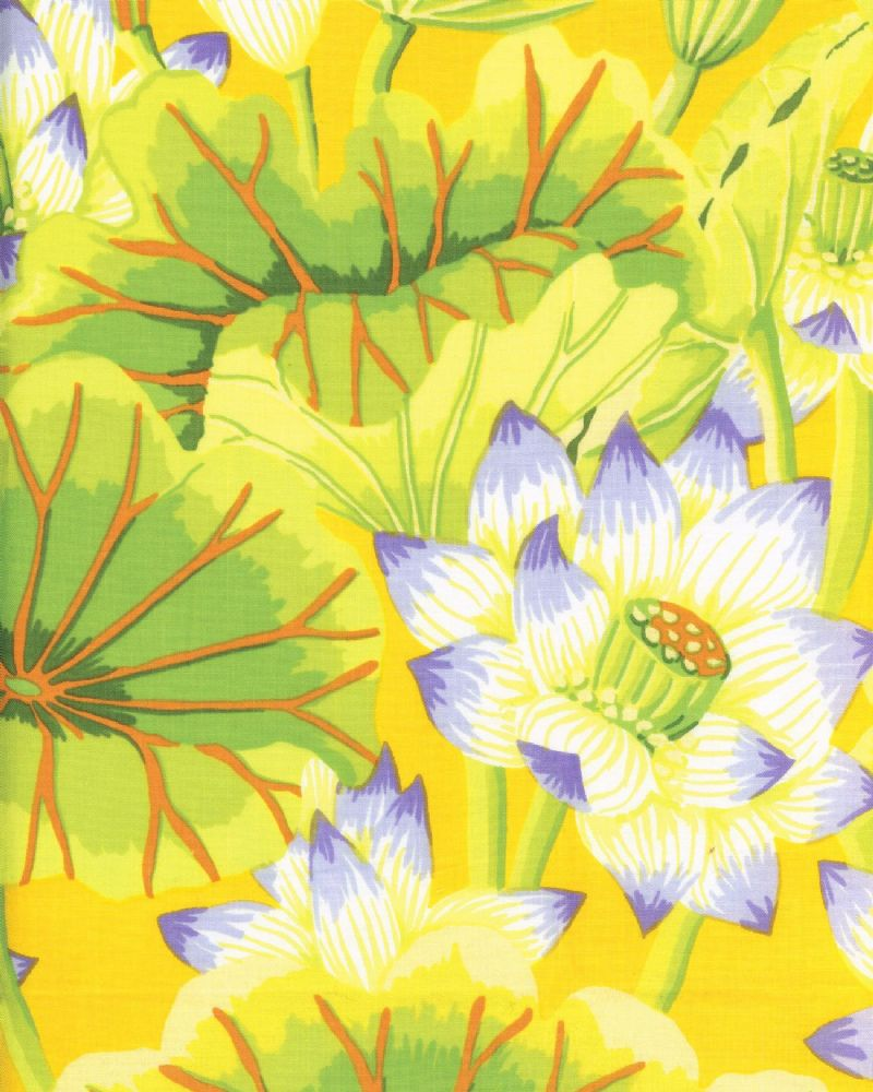 Kaffe Fassett Lake Blossoms - Yellow - Per Quarter Metre.